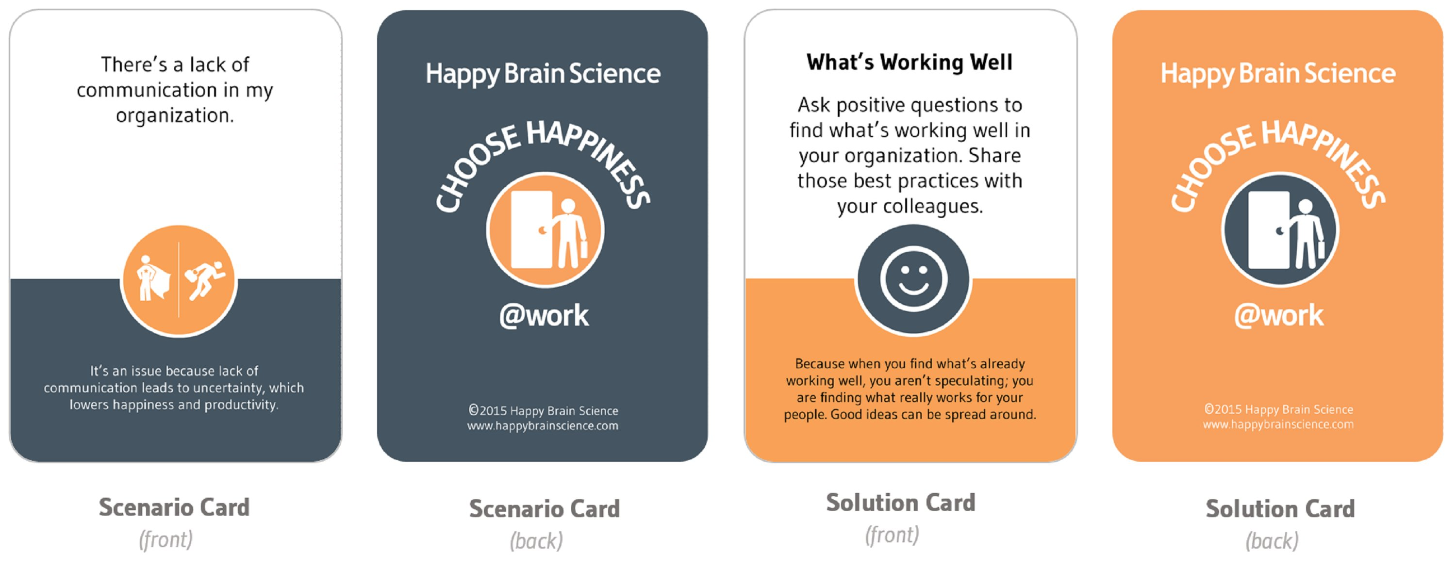 Choose Happiness at Work Cards - images
