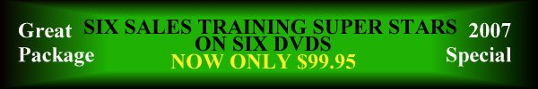 Sales Success Training DVD Package.