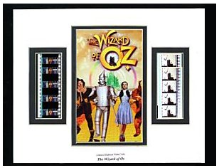 Wizard of Oz collectable film cell.
